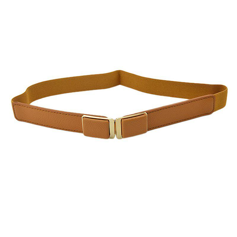 Elastic Ribbon PU Leather Belt for Women - multicolor A