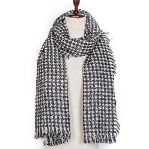 Autumn and Winter The New Small Grid Pattern Imitation of Cashmere Scarf - DARK GRAY