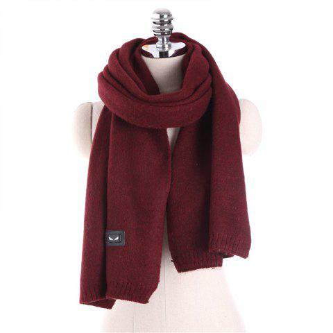 Autumn and Winter Fashion Small Monster Cashmere Scarf Shawl - RED WINE