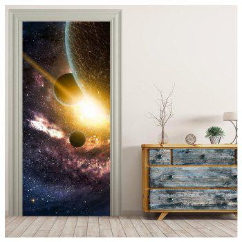 MailingArt 3D HD Canvas Print Door Wall Sticker Mural Home Decor Space - multicolor 77 X 200CM 1PC