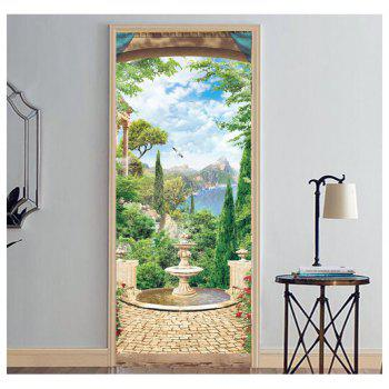 MailingArt 3D HD Canvas Print Door Wall Sticker Mural Home Decoration Springpool - multicolor 77 X 200CM  1 PC