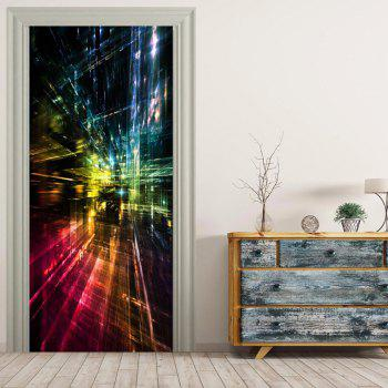 MailingArt 3D HD Canvas Print Door Wall Sticker Mural Home Decoration Abstract B - multicolor 77 X 200CM 1PC