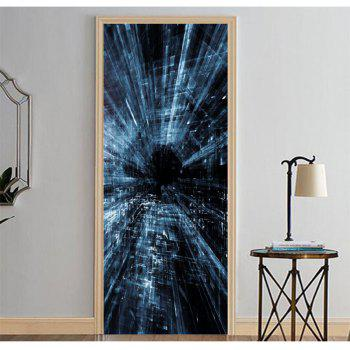 MailingArt 3D HD Canvas Print Door Wall Sticker Mural Home Decoration Abstract C - multicolor 77 X 200CM 1PC