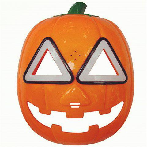 LED Light Up Halloween Masque De Citrouille Cosplay - Orange