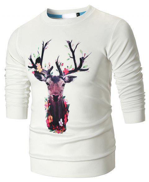 Print Fashion Men's Sweater - multicolor C 3XL
