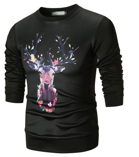 Print Fashion Men's Sweater - multicolor D XL