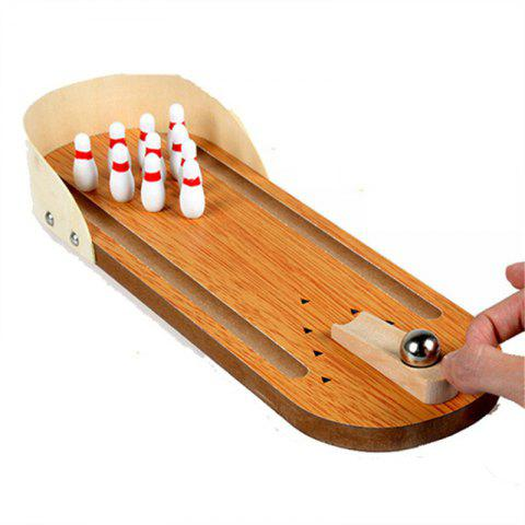 Wooden Mini Bowling Educational Toys - BRONZE