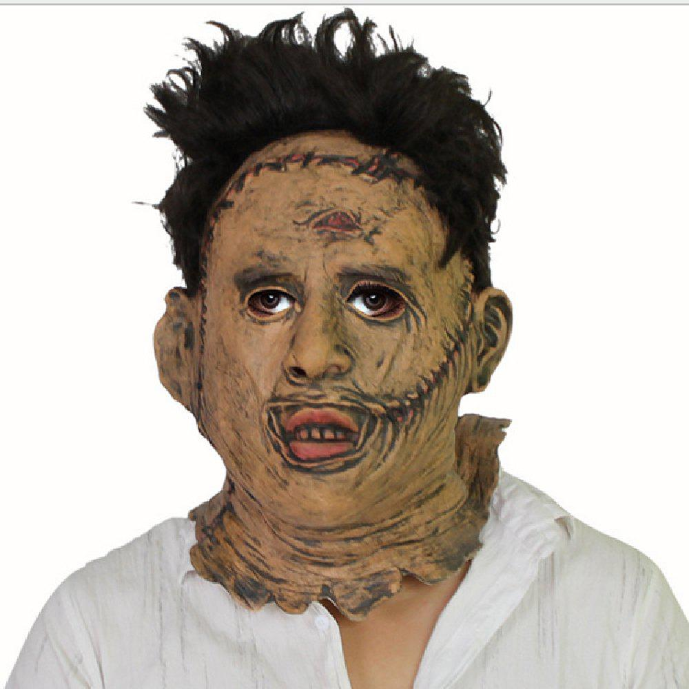 YEDUO  Texas Chainsaw Massacre Leatherface Masks Scary Movie Cosplay Halloween - BROWN BEAR