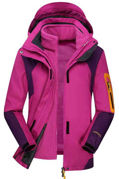 Women's Outdoor Jacket Fleece Warm Sports Top - PLUM M