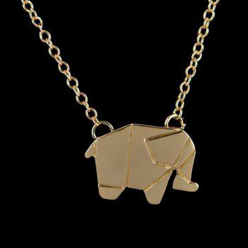 Elephant Alloy Plating Necklace Accessories - GOLD 10*10*10CM