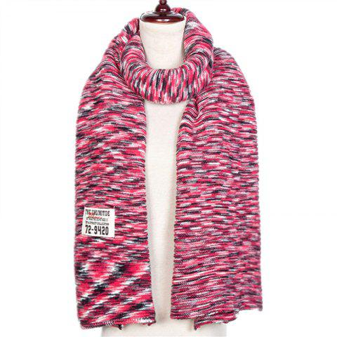 Autumn and Winter The New Colors Knitting Wool Imitation of Cashmere Scarf - multicolor D