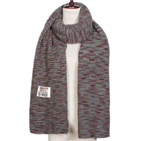 Autumn and Winter The New Colors Knitting Wool Imitation of Cashmere Scarf - multicolor A