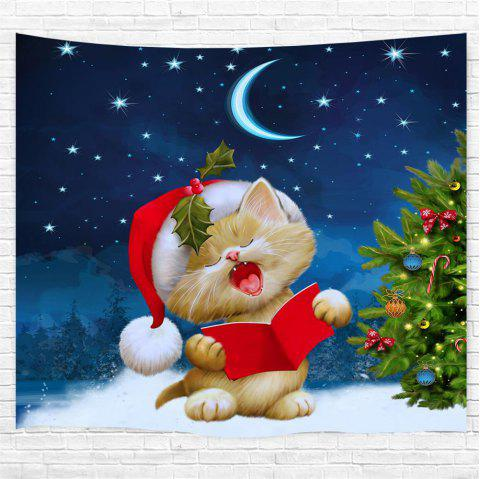 Sleepy Cat 3D Printing Home Wall Hanging Tapestry for Decoration - multicolor W229CMXL153CM