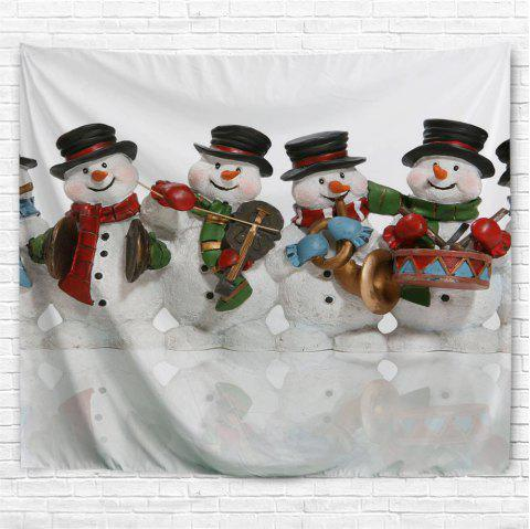 The Snowman Band 3D Printing Home Wall Hanging Tapestry for Decoration - multicolor W153CMXL102CM