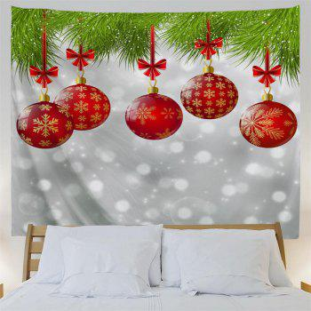 Red Christmas Ball 3D Printing Home Wall Hanging Tapestry for Decoration - multicolor W230CMXL180CM