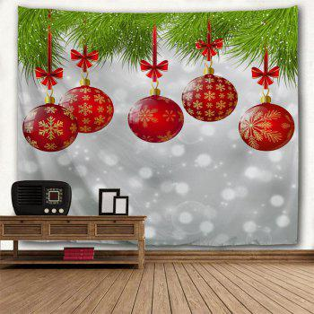 Red Christmas Ball 3D Printing Home Wall Hanging Tapestry for Decoration - multicolor W153CMXL102CM