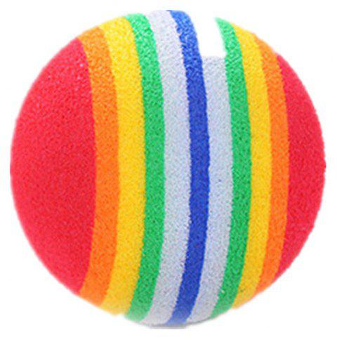 Rainbow Ball Is A Light and Light Pet Toy - multicolor
