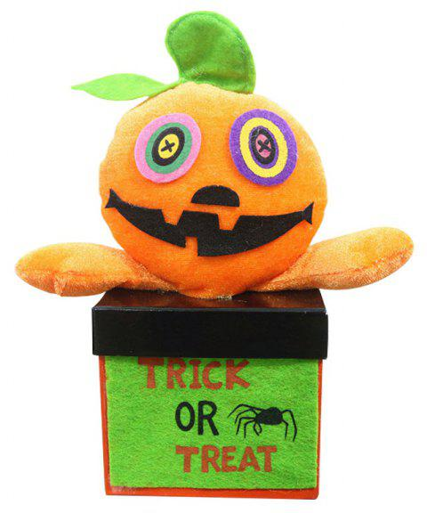 Halloween Funny Decorating Square Candy Box - Orange Citrouille