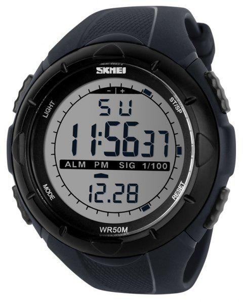 SKMEI Men's Fashion Sports Electronic Male Student Diving Watch - JET GRAY