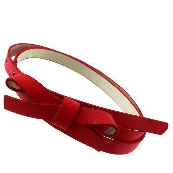 PU Leather Solid Adjustable Belt for Women - multicolor A