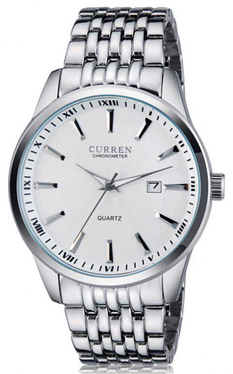 Curren 8052 Brand Luxury Business Casual Quartz Men Watch - SILVER
