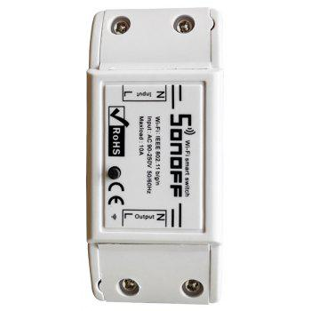 SONOFF DIY Wi-Fi Wireless Switch For Smart Home Automation Relay Module - WHITE 8.8 X 3.8CM