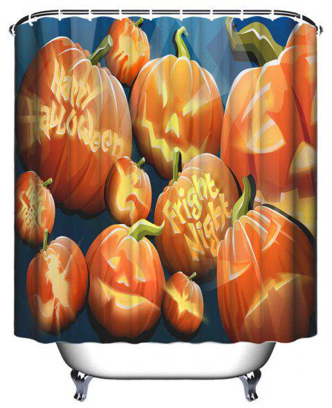 Rideau de douche imperméable imprimé polyester - Orange Halloween W71 INCH * L71 INCH