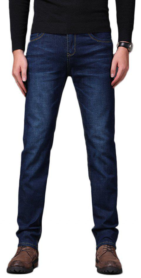 Men's Fashionable Stretch Business Jeans - DEEP BLUE 31