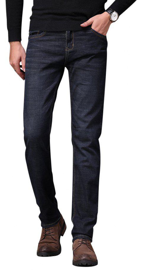 Men's Fashionable Stretch Business Jeans - BLACK 38