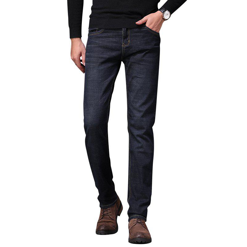 Men's Fashionable Stretch Business Jeans - BLACK 36