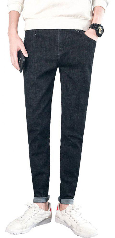 Men's Fashionable Stretch Jeans - BLACK 30