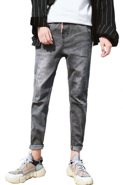 Men's Fashionable Slim Casual Jeans - GRAY 32