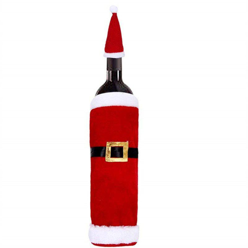 Christmas Red Wine Bottle  Cover Bag - RED