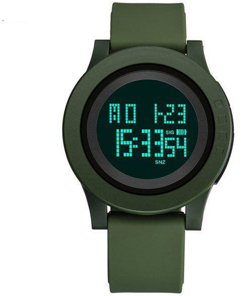 Men's Digital Wrist Watch LED Large Face Electronics Military Waterproof - ARMY GREEN