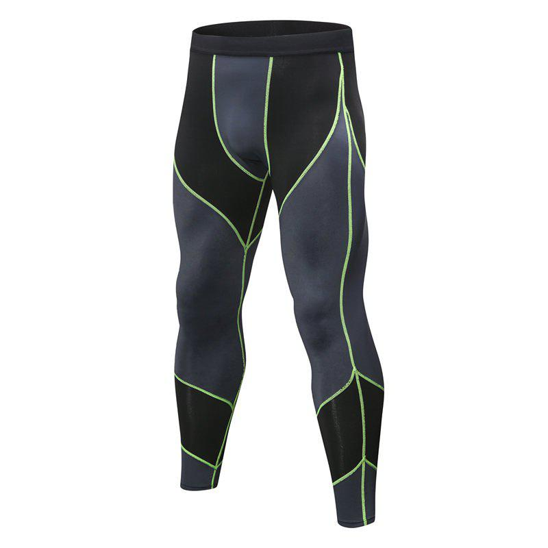 Men's Sports Running Training Fitness Quick-drying High-elastic Combat Pants - GREEN XL