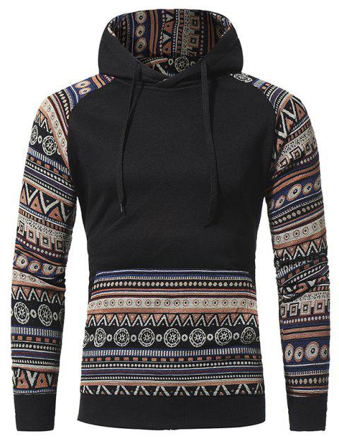 Men's Fashion Casual Slim Hooded Pullover Sweatshirt - BLACK 3XL