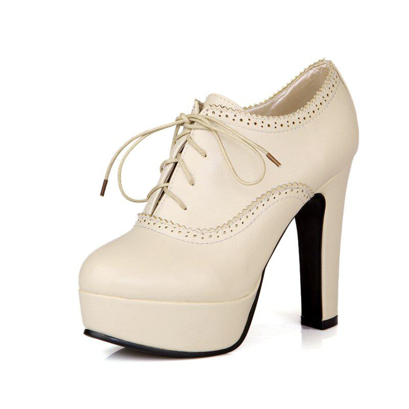High Heeled Lace Women'S Shoes