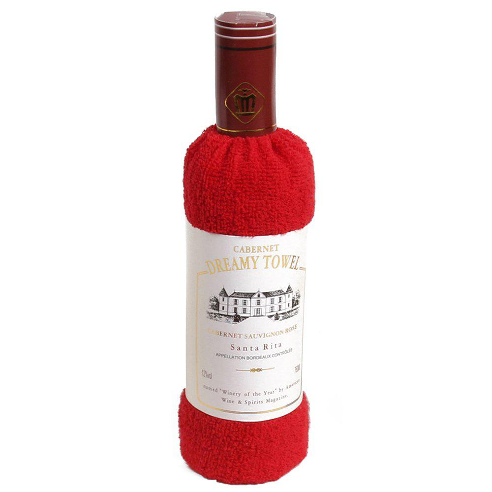 New Cotton Red Wine Towel - RED
