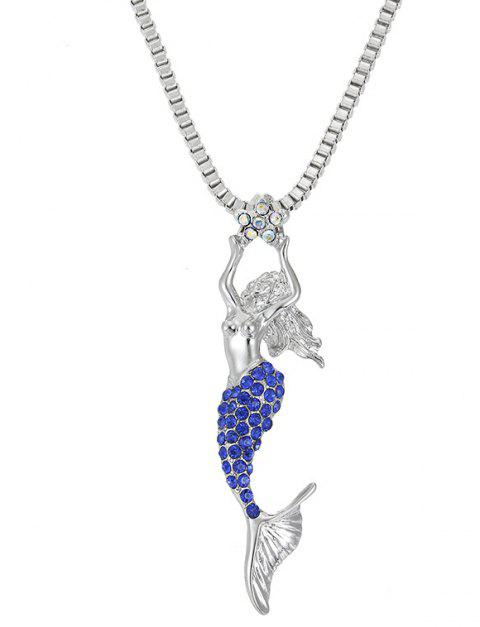 Diamond Mermaid Necklace Creative Costume Accessories - ROYAL BLUE