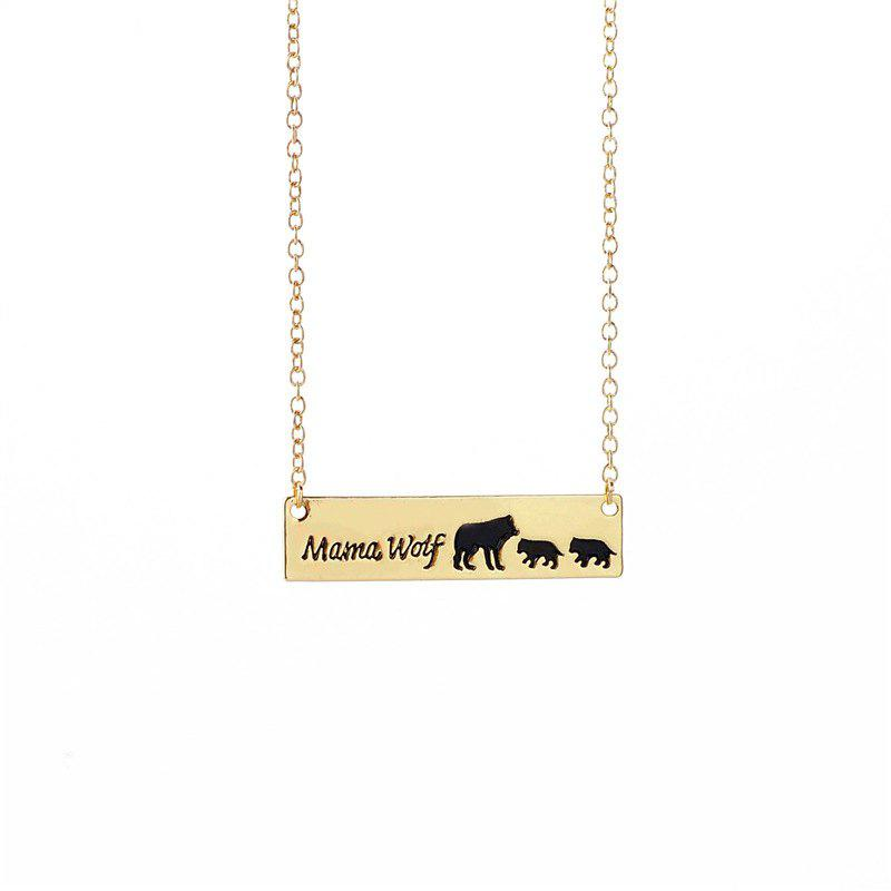 Concise Fashion Hand Wolf Exquisite Clavicle Chain - GOLD 4.5*1.2*0.1CM