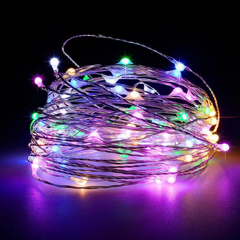 Battery Operated Garland Indoor Outdoor Home Christmas Decoration Strip Light - multicolor