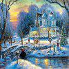 3D Jigsaw Paper Winter Christmas Puzzle Block Assembly Birthday Toy - multicolor