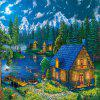 3D Jigsaw Paper Christmas Wood House  Puzzle Block Assembly Birthday Toy - multicolor