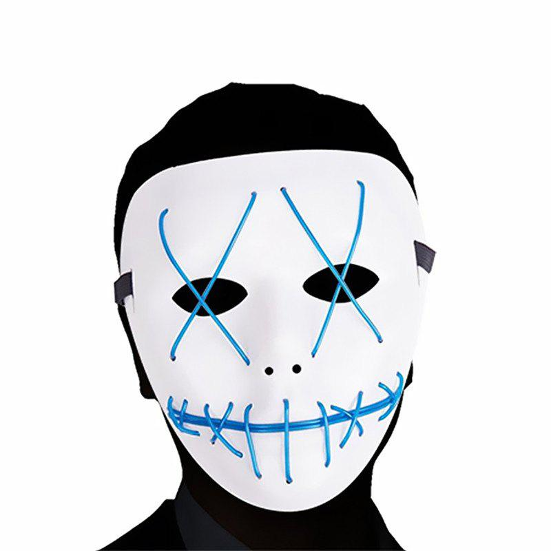 Scary LED Mask Halloween Cosplay Costume for Festival Parties Blue - BLUE DRESS