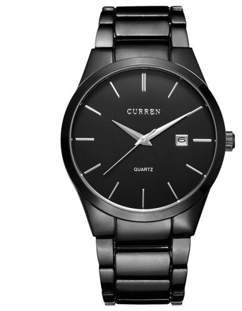 CURREN Sports Wristwatch  Date Men's Quartz  Business Watch - BLACK