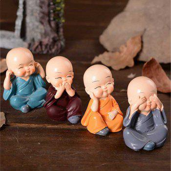 Home Car Decoration 4 Mini Monks - multicolor 7.8*7.8*6.8CM