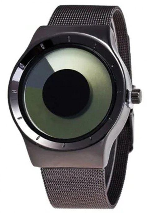 V5 Men and Women Simple Fashion Waterproof Steel Band Quartz Watch - multicolor A