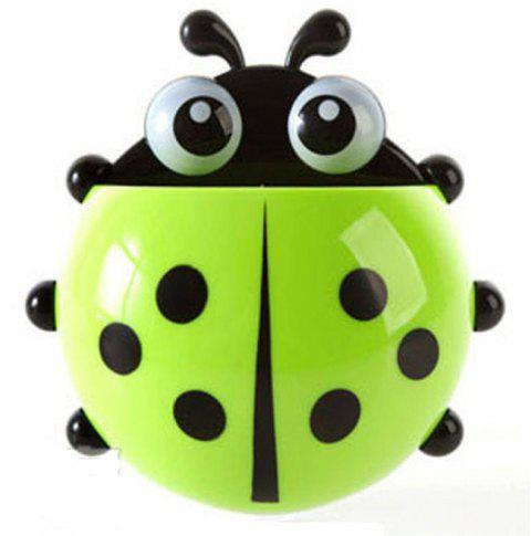 Mini Ladybug Powerful Sucker Toothbrush Holder - JADE GREEN