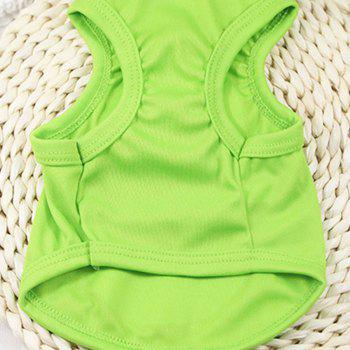 Cartoon  Spring and Summer Small Dog Pet Clothes - CHARTREUSE L