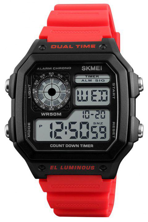 SKMEI Sports Men Top Brand Luxury Famous Water Resistant LED Digital Watches - multicolor B